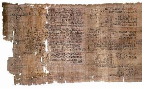 The Ahmes papyrus.